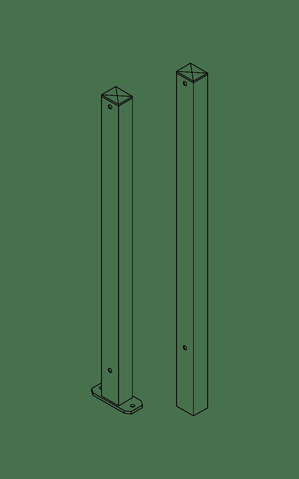 Accessori recinzioni cancelli linea light piantane for Baldassar recinzioni