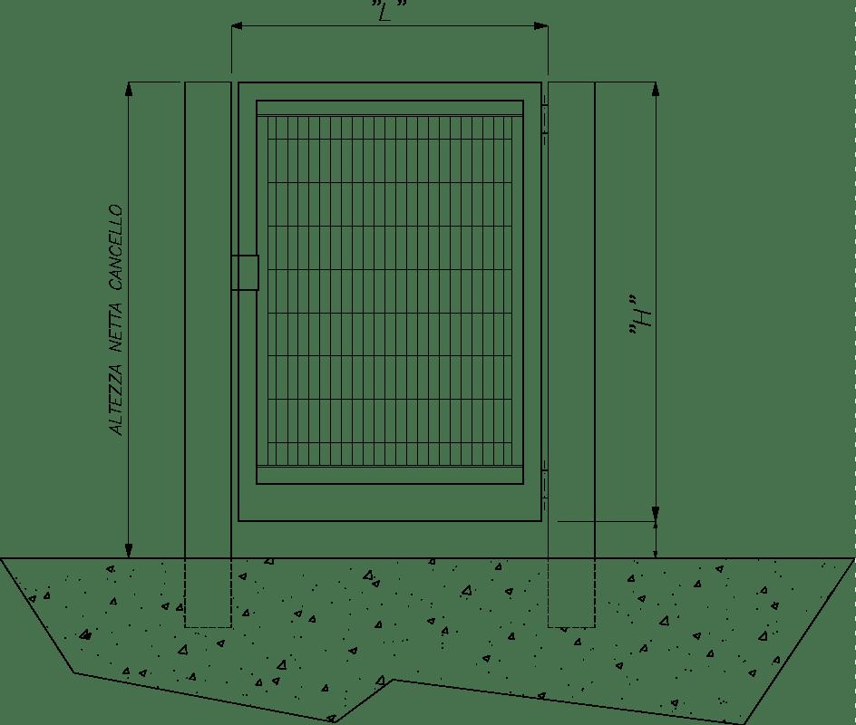 Dimensioni Cancello A Due Ante.Cancelli Su Misura Grigliati Baldassar Srl